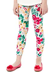 Cotton Rich Floral Leggings