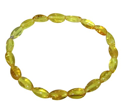 "Adult Baltic Amber Oval Bracelet Golden Honey Colour 19 Cm 7.5"" Stretch Unisex Genuine Bracelet By Amber Corner"
