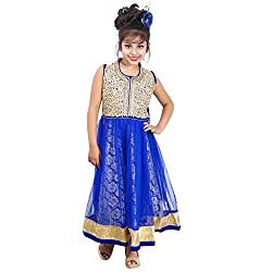 ahhaaaa's Blue Beautiful Dress/Gown/Frock for Girls (6-7 Years)
