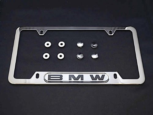 Bmw License Plate Frame Polished Steel Oem E30 E32 E34 E36 E38 E39 E46 E90