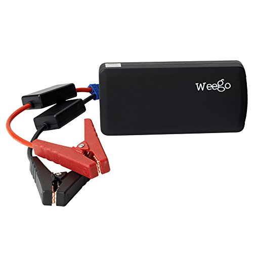 Weego JS12 12000mAh Jump Starter Heavy Duty Battery Pack for Mobile Devices and Car Batteries - Retail Packaging - Black