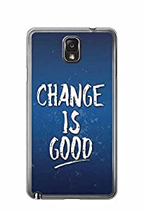 YuBingo Change is Good Designer Mobile Case Back Cover for Samsung Galaxy Note 3
