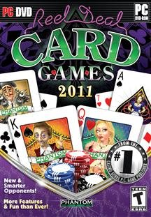 Brand New Reel Deal Card Games 2011 (Rated: T) (Works With: Win Xp,Vista,Win 7/Dvd Software)