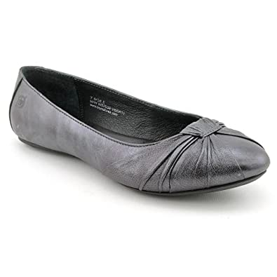 Born Women's 'Liddy' Slip On Leather Flat, Pewter Veleno, Size 7M US
