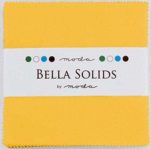 Bella Solids Yellow Moda Charm Pack By Moda Fabrics; 42 - 5