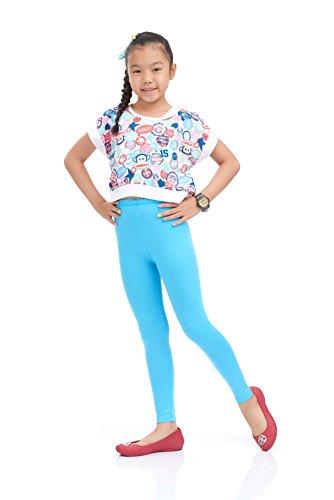 Nom Girls Legging Long Leg Perfect Fit Variety of Colors Medium size light blue (Light Blue Leggings compare prices)