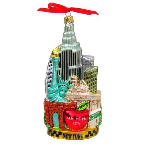 Kurt Adler C4055 New York Glass Cityscape Ornament, 5-1/2-Inch (Kurt Adler Ornaments New York compare prices)