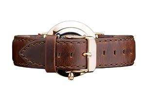 Daniel Wellington 0711DW - Correa de cuero para reloj de mujer, color marrón (18.0 mm) de Daniel Wellington