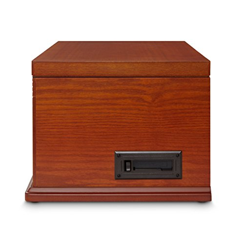 Crosley Lancaster Three Speed Wooden Record Turntable Entertainment Center - Paprika