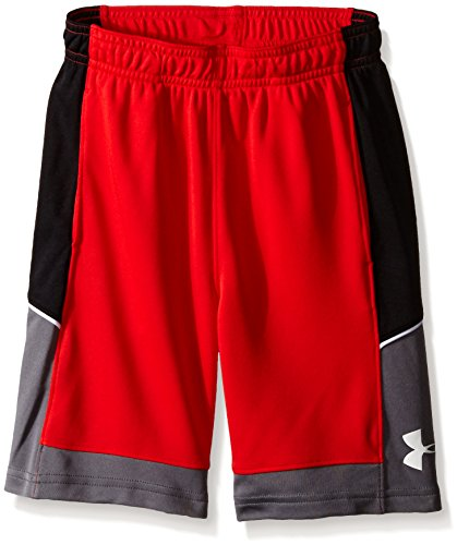 Under Armour Little Boys' Baseline Short, Risk Red, 7
