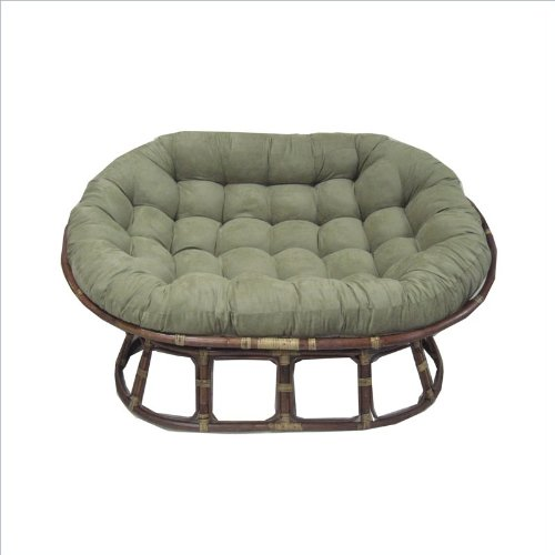 Oversize Double Papasan Chair Cushion Color: Spice front-931497