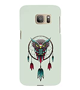 printtech Awesome Owl Feather Pattern Back Case Cover for Samsung Galaxy S7 / Samsung Galaxy S7 Duos with dual-SIM card slots