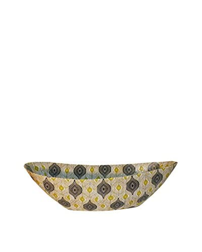 Asian Loft Peacock Handcrafted Swaziland Paper Mache Bowl, Yellow