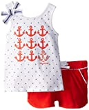 Nautica Baby-Girls Infant Fashion Graphic Tank and Knit Short Set