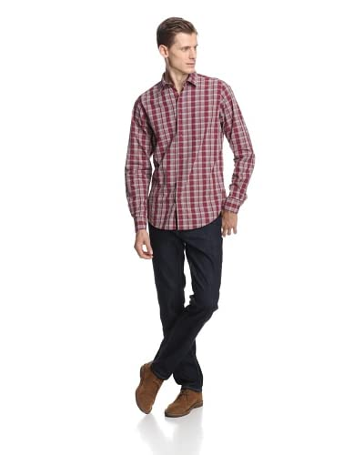 Ben Sherman Men's Laundered Mixed Density Check Woven Shirt