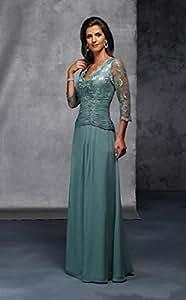 .com : Hot Sale V Neck Mother Of The Bride Lace Dresses 2015 Vestidos