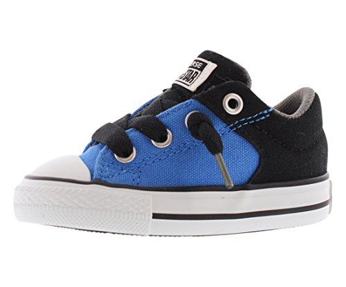 Converse Unisex Baby Chuck Taylor All Star High Street Slip (Inf/Tod) - Light Sapphire/Black/White - 5 Infant (Girls Light Blue Converse compare prices)