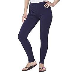 Liana Women's Cotton Legging(RFLA09_Ink Blue_FreeSize)