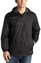 Dickies Men\'s Fleece Lined Hooded Jacket, Black, 3XL