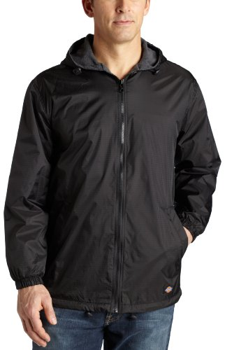 Dickies Men's Fleece Lined Hooded Jacket, Black, Medium