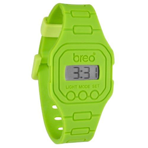 Breo Spectrum Unisex Rubber Digital Watch Lime