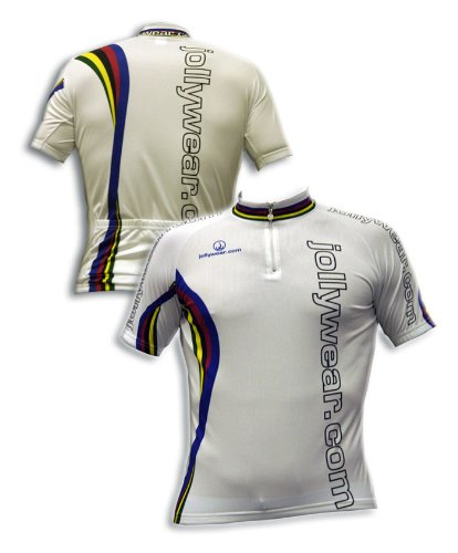 Buy Low Price JOLLYWEAR Cycling Jersey – short sleeve (JW WORLD WHITE collection) (B003IICQX0)