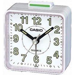 Casio- Tq140-7 Travel Quartz Beep Alarm Clock (White) front-685088