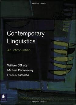 Contemporary linguistics: an introduction - William ...