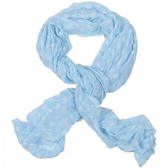 Halstuch Schal Rundschal Langschal Tuch Punkte gepunktet coole Farben Kopftuch Hellblau