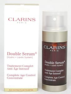 Clarins Double Serum Complete Age Control Concentrate for Unisex, 1 Ounce
