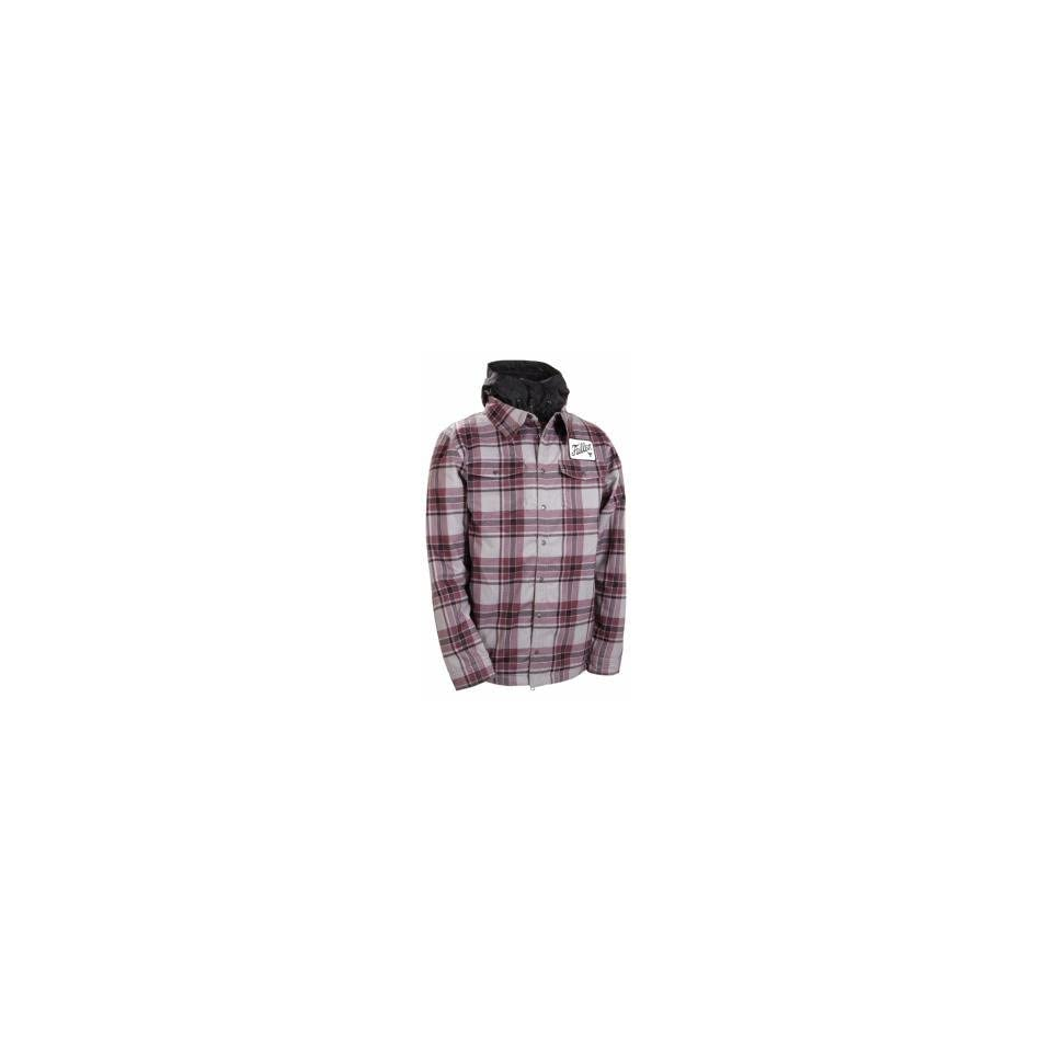 686  Fallen Limited Edition Flannel Mens Insulated Snowboard Jacket (Blood  Grey) Size Small 0263b0878