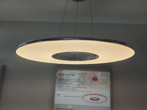 "Innolighting® 20""Unique Original Donut Led 20W Edge Lit 9.2Mm Thin Pendant Light 3000K Warm White Ceiling Light Fixture Free Voltage Made In Korea"