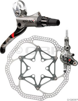 Buy Low Price Avid XX Front Disc Brake with Left Lever (160mm HSX Rotor, 850mm Hose)- Silver (AVEXX7100)