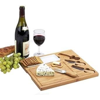 Picnic at Ascot Celtic Cheese Board Set, Ceramic Dish