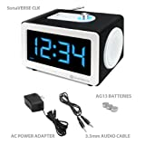 GOgroove LED Alarm Clock MP3 Stereo 6W Speaker SonaVERSE CLK with AUX-In and USB or SD Card Port - Works With Apple iPod Samsung Galaxy Player PONO Beats Music and More! **Includes Micro-USB Cable**