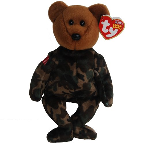 Ty Beanie Babies HERO USA - Bear (Flag on Shoulder) - 1