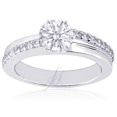 1.40 Ct Round Diamond Engagement Ring Pave-Set