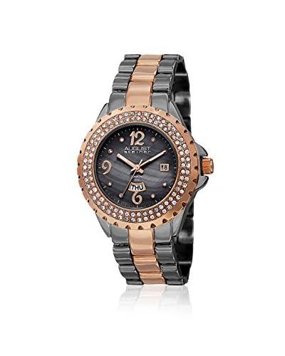 August Steiner Women's AS8156TTR Diamond & Crystal Two-Tone/Black Watch