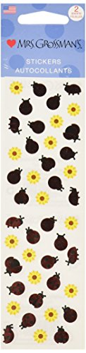 Mrs. Grossman's Stickers-Ladybugs & Flowers