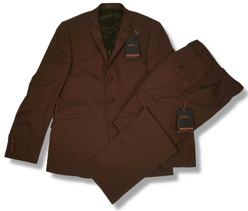 Ben Sherman Slim Fit 3 Button Mod Suit Tonic Brown 40 chest / 32 waist