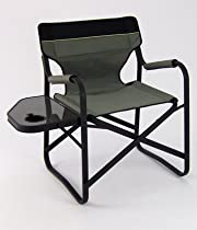 Onway Aluminum Portable Folding Deck Chair with Side Table (Gray)