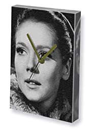 DIANA RIGG - Canvas Clock (LARGE A3 - Signed by the Artist) #js001