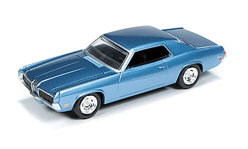 Mercury Cougar, metallic-light blue, 1970, Model Car, Ready-made, car World 1:64
