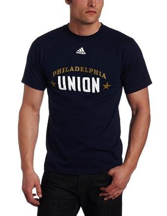 MLS Philadelphia Union Primary One Short Sleeve T-Shirt (Collegiate Navy, Medium)