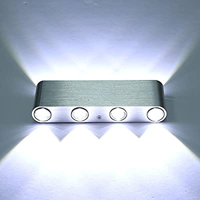 Lightess Modern 8 LED Aluminum Wall Lights Sconces 8W Up Down Light for Living Room Bedroom Corridor Hall Shop and Restaurant