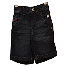 Titrit Black Denim Shorts For Boys