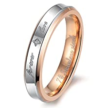 """buy Adtl Women'S """"Forever Love"""" Wedding Promise Ring Engagement Band Stainless Steel Accessories Size 9"""