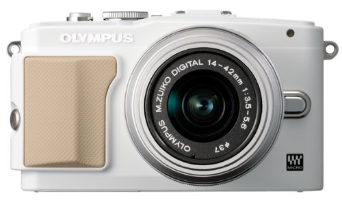 Olympus E-PL5 Mirrorless Digital Camera with 14-42mm Lens (White)
