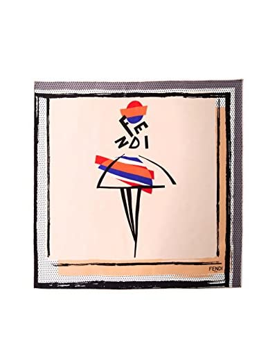 Fendi Women's Patterned Scarf, Pink/Multi