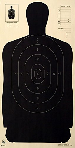 American (50x) B-27 PR Law Enforcement Shooting Target Official NRA FBI Police Silhouette 23
